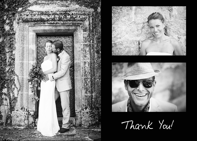 PHOTOGRAPHER VIDEOGRAPHER THANK YOU CARD LUCY SHANE